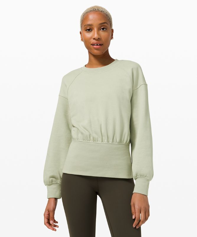 Hugged-Waist Cotton Pullover