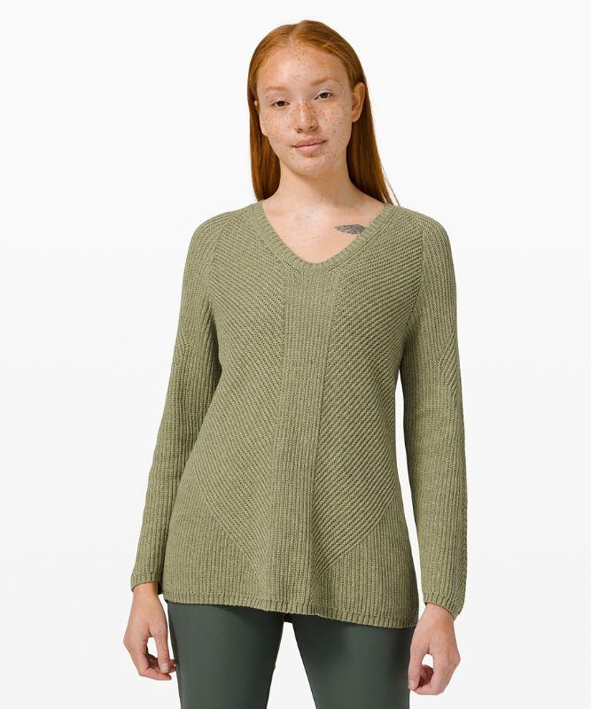 Knit Blend Textured Pulllover