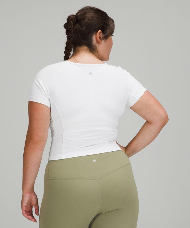 Nulu™ Cropped Slim Yoga-Kurzarm-Shirt