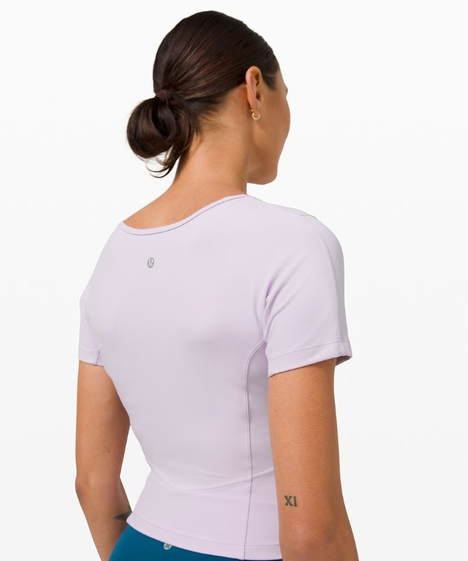 Nulu™ Cropped Slim Yoga Short Sleeve