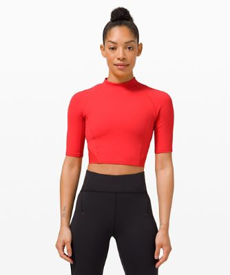 Everlux™ and Mesh Cropped Short Sleeve