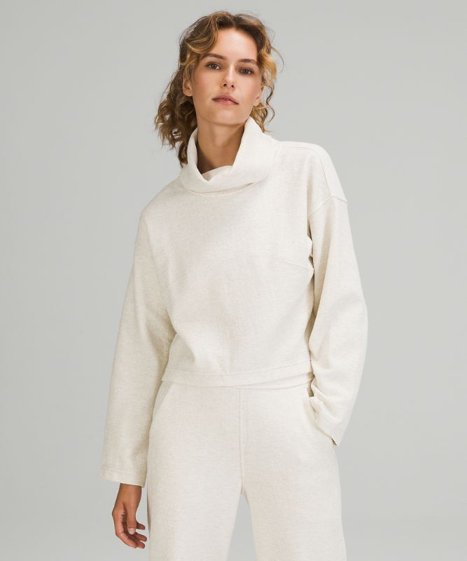 Ribbed Funnel Neck Pullover