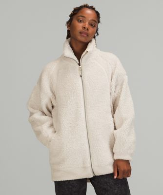 Long Textured Fleece Jacket