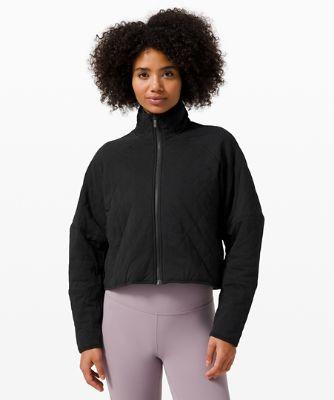 [30% OFF] 퀼티드 캄 재킷, BLACK