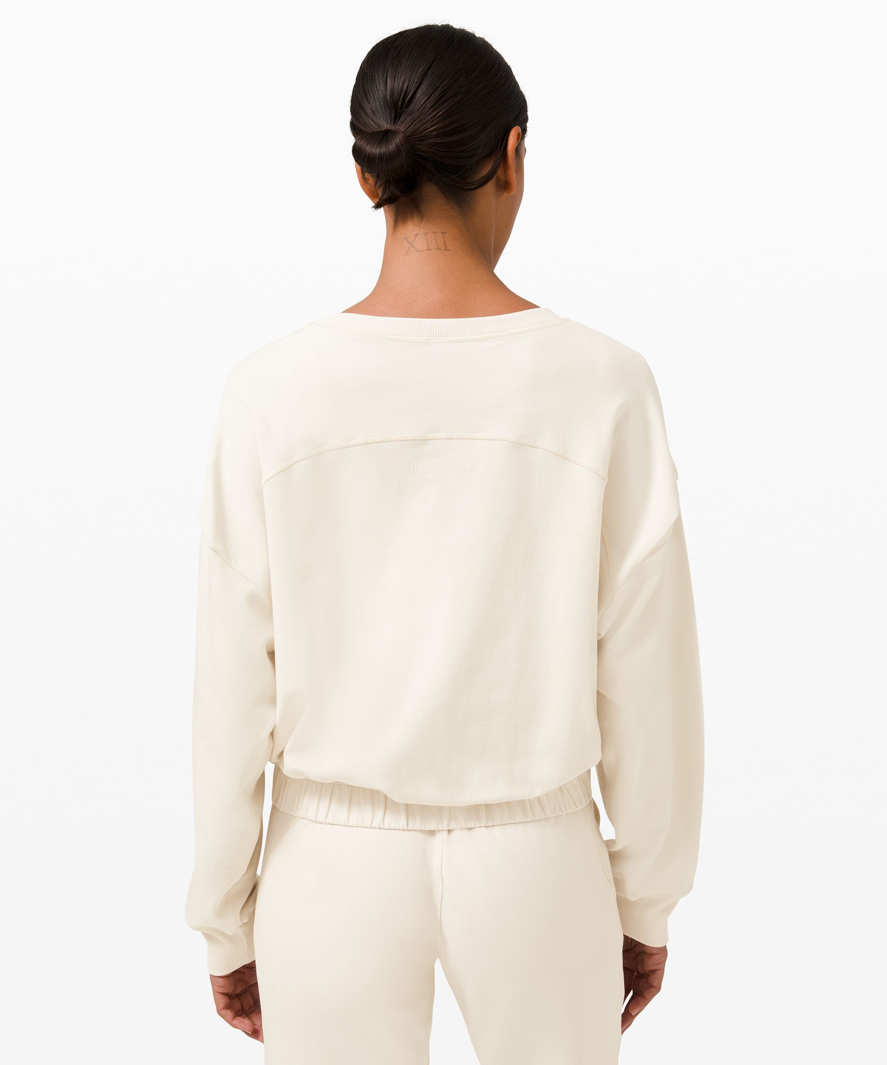 Relaxed Fit Cinch Hem Long Sleeve