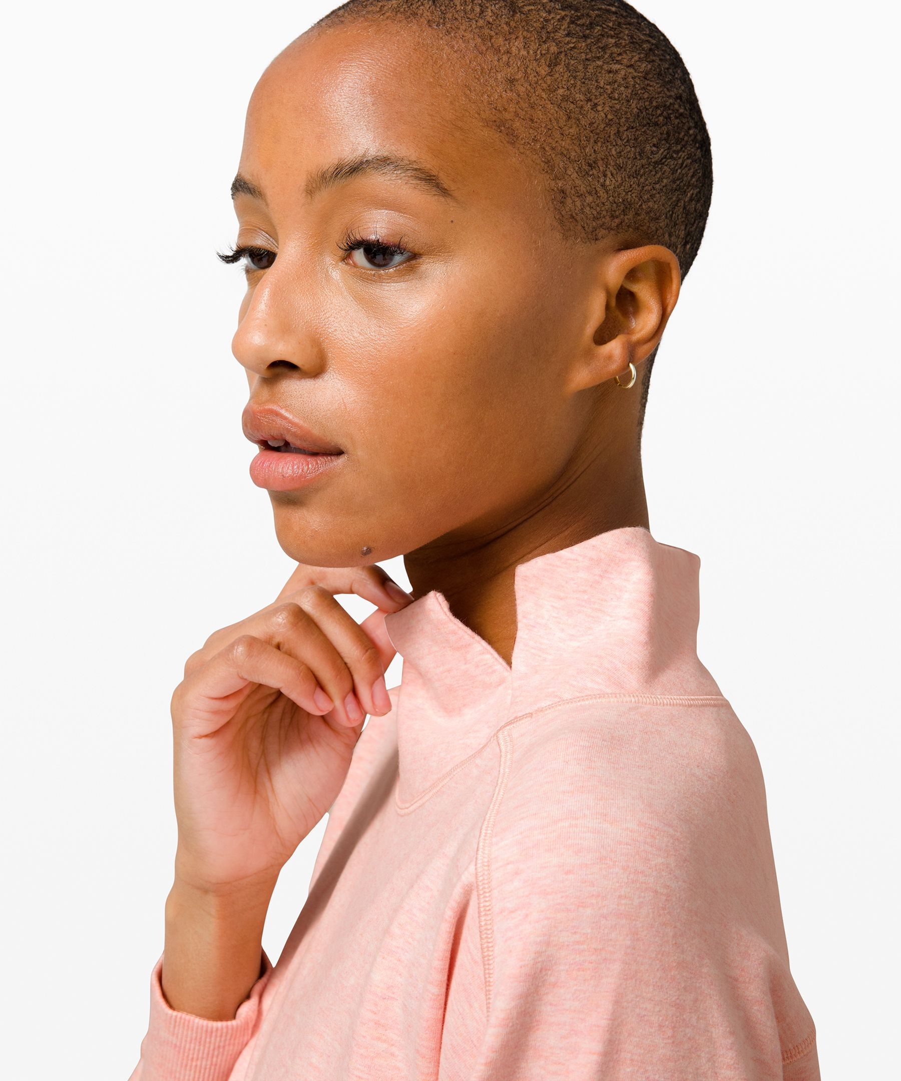 Relaxed French Terry Mock Neck