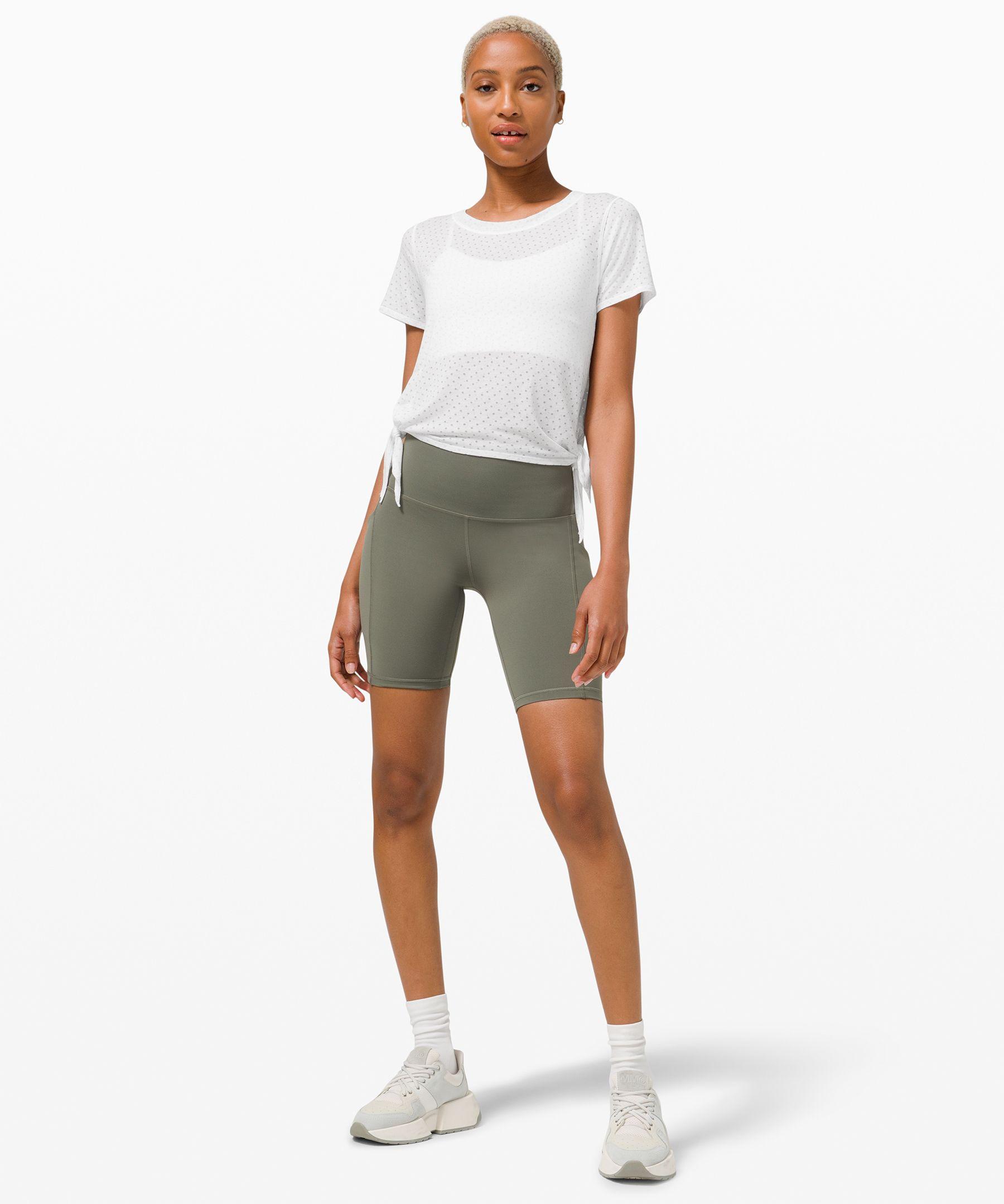 Side Tie Yoga Short Sleeve