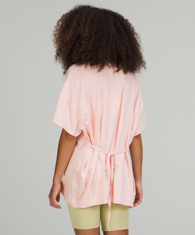 Side Tie V-Neck T-Shirt