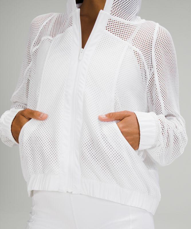 릴랙스 핏 메쉬 재킷