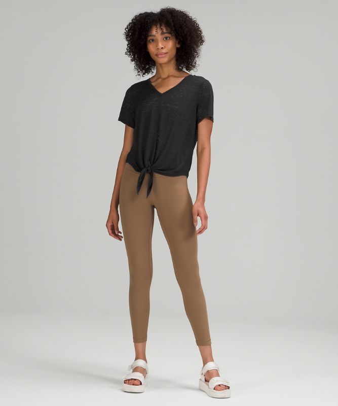 Relaxed Tie Front Short Sleeve
