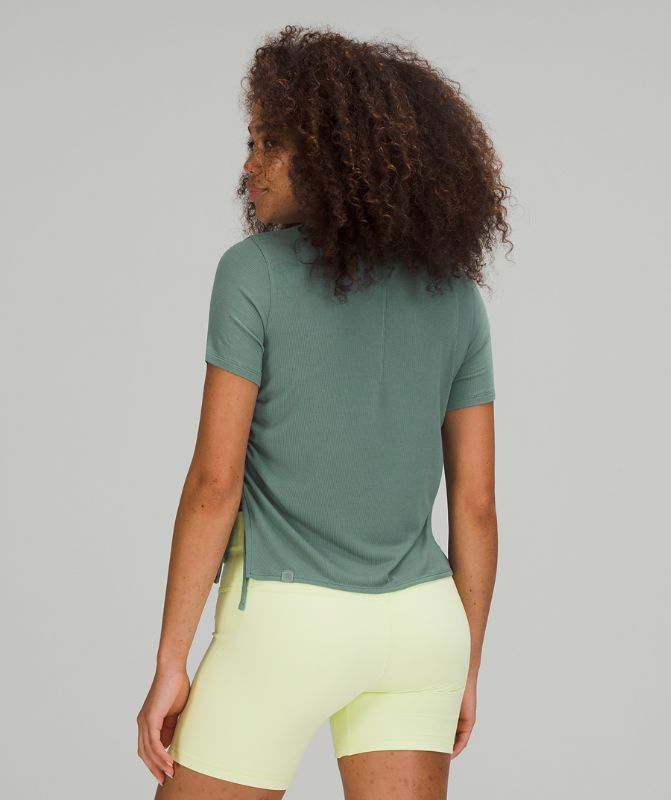 Side Cinch Ribbed T-Shirt