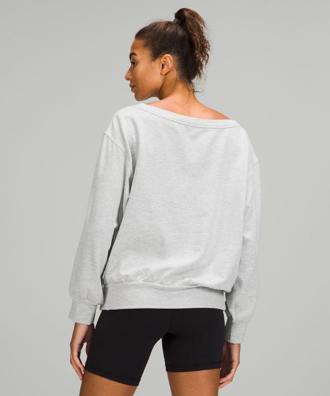 Pleated Modal Fleece Pullover