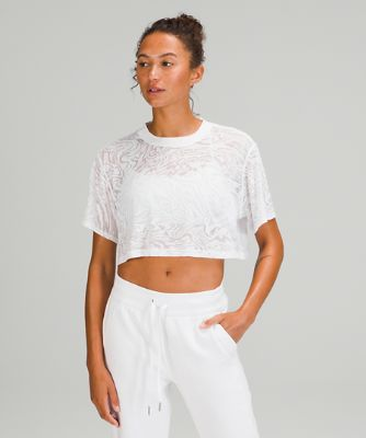 All Yours Cropped T-Shirt *Veil