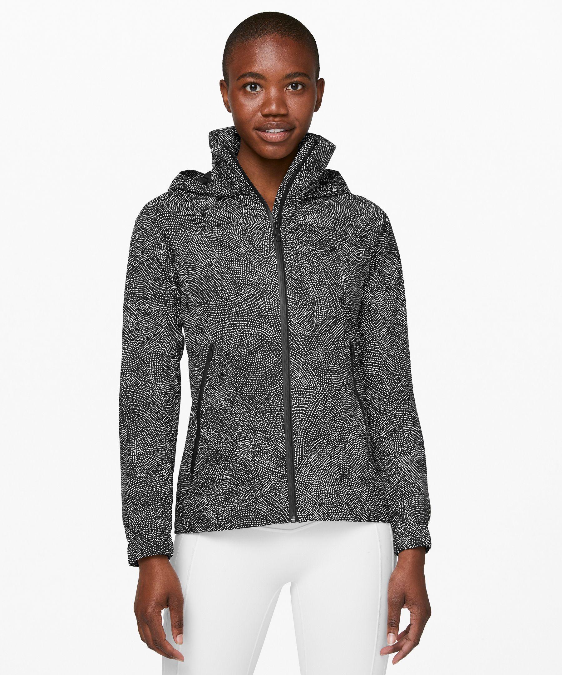 Lululemon Here To Move Jacket In Free Spirit Alpine White Black