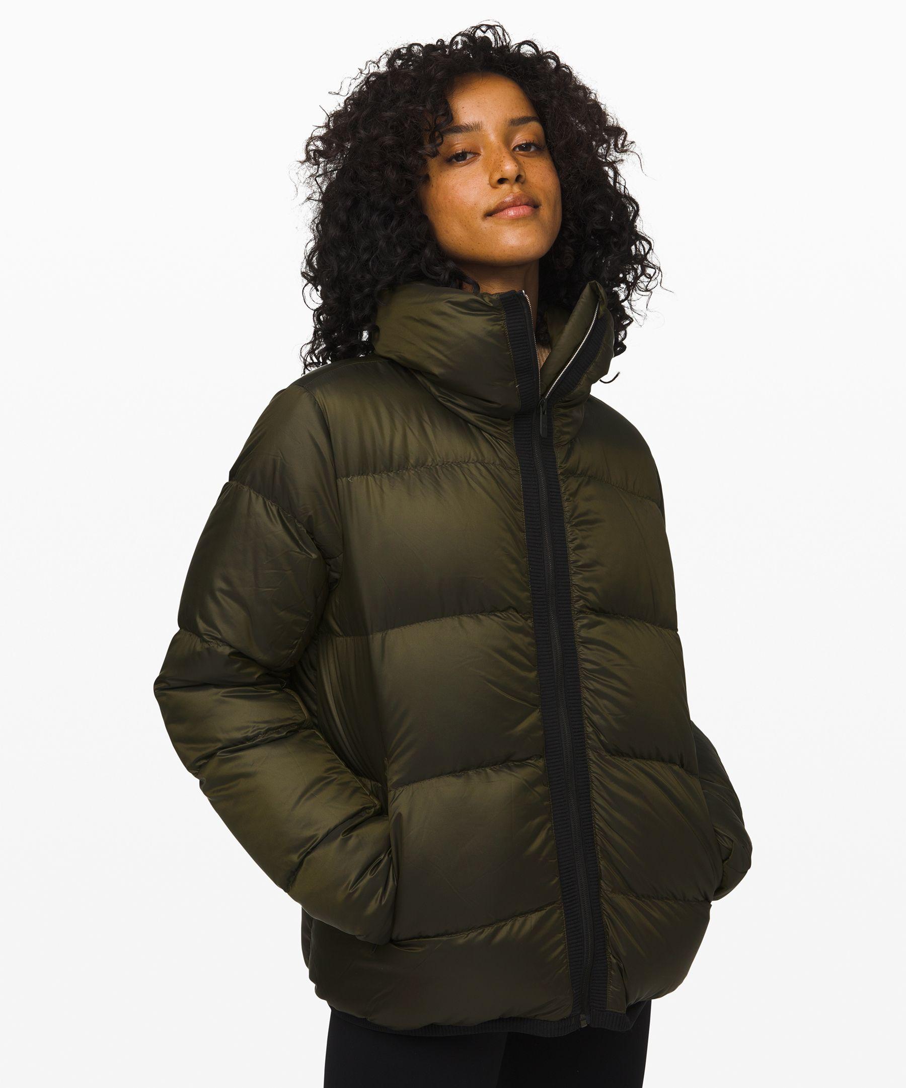 Lululemon Cloudscape Waterproof Jacket In Dark Olive
