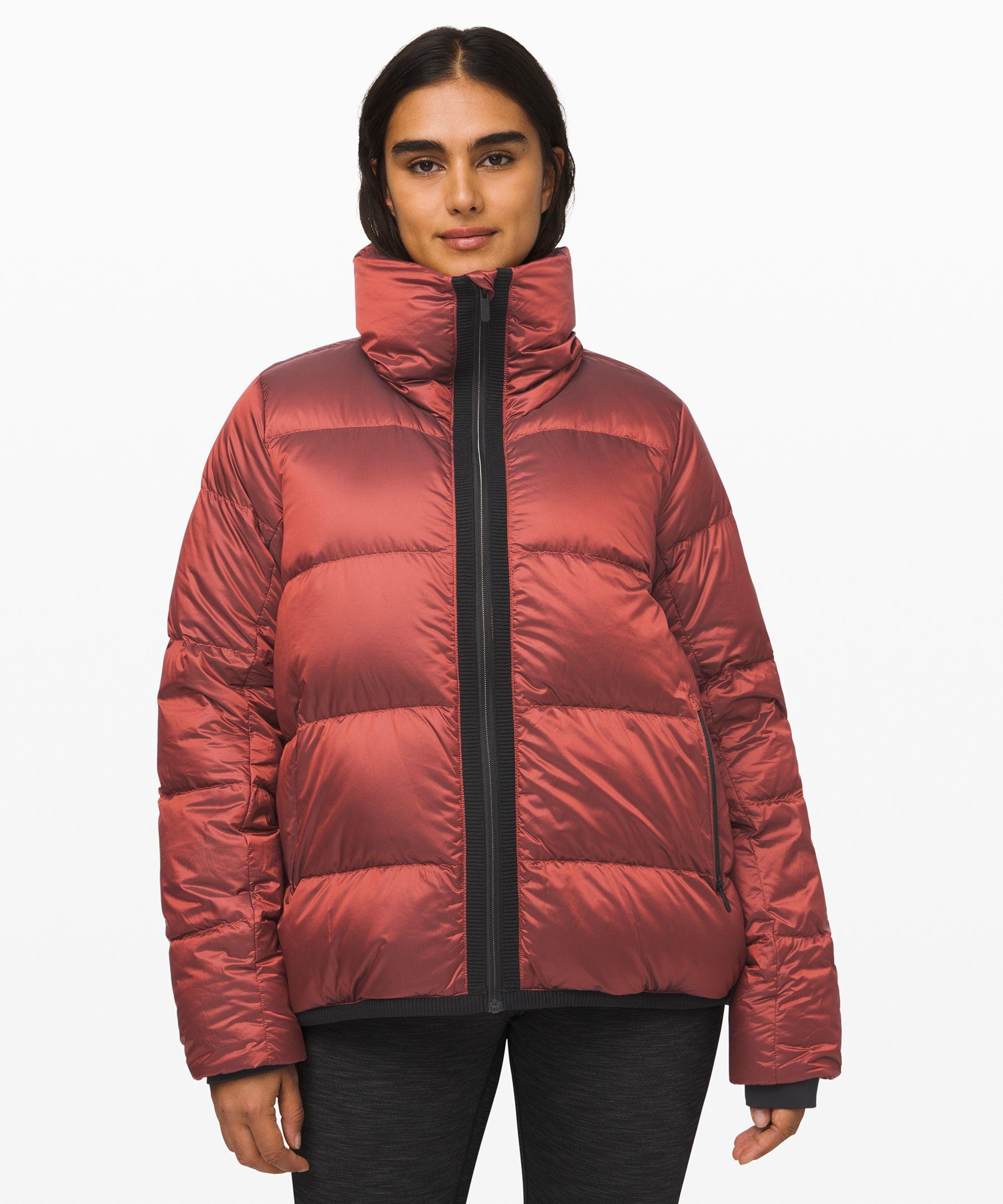 Lululemon Cloudscape Waterproof Jacket In Sunset Orange