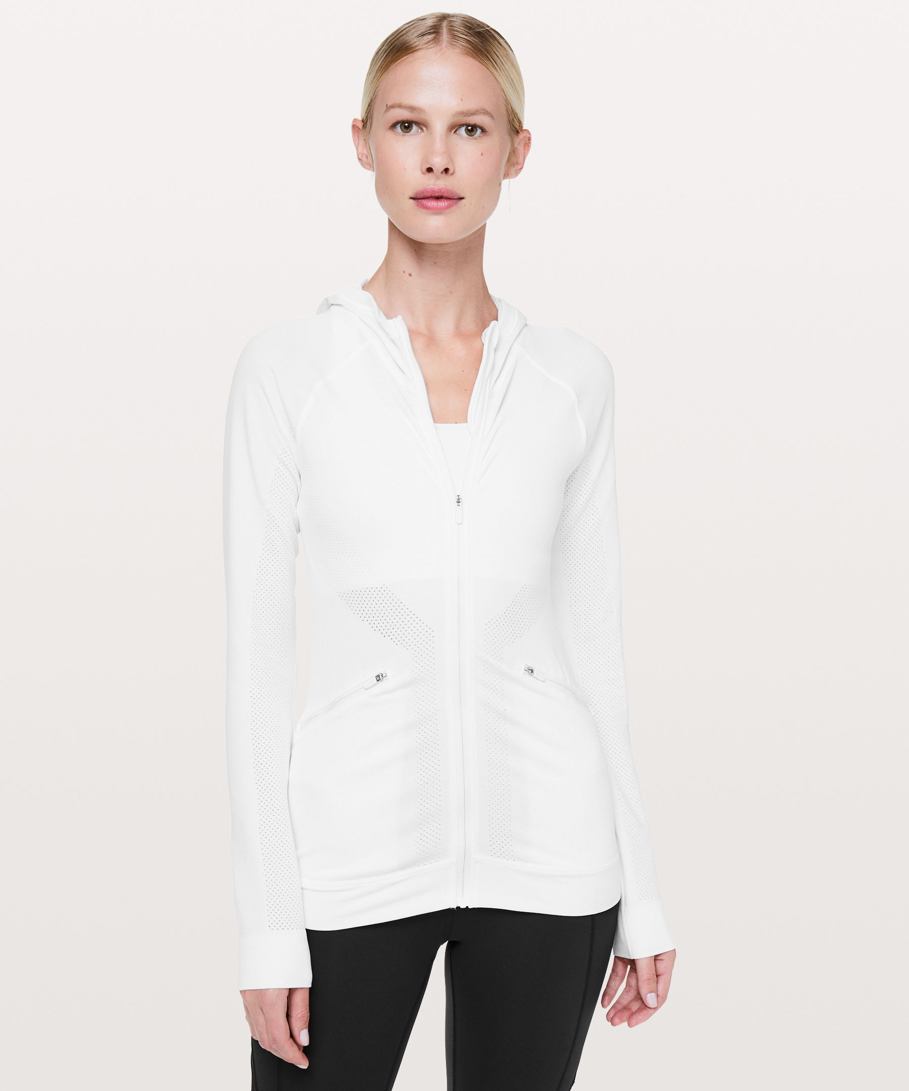 Lululemon Ventilate Jacket In White