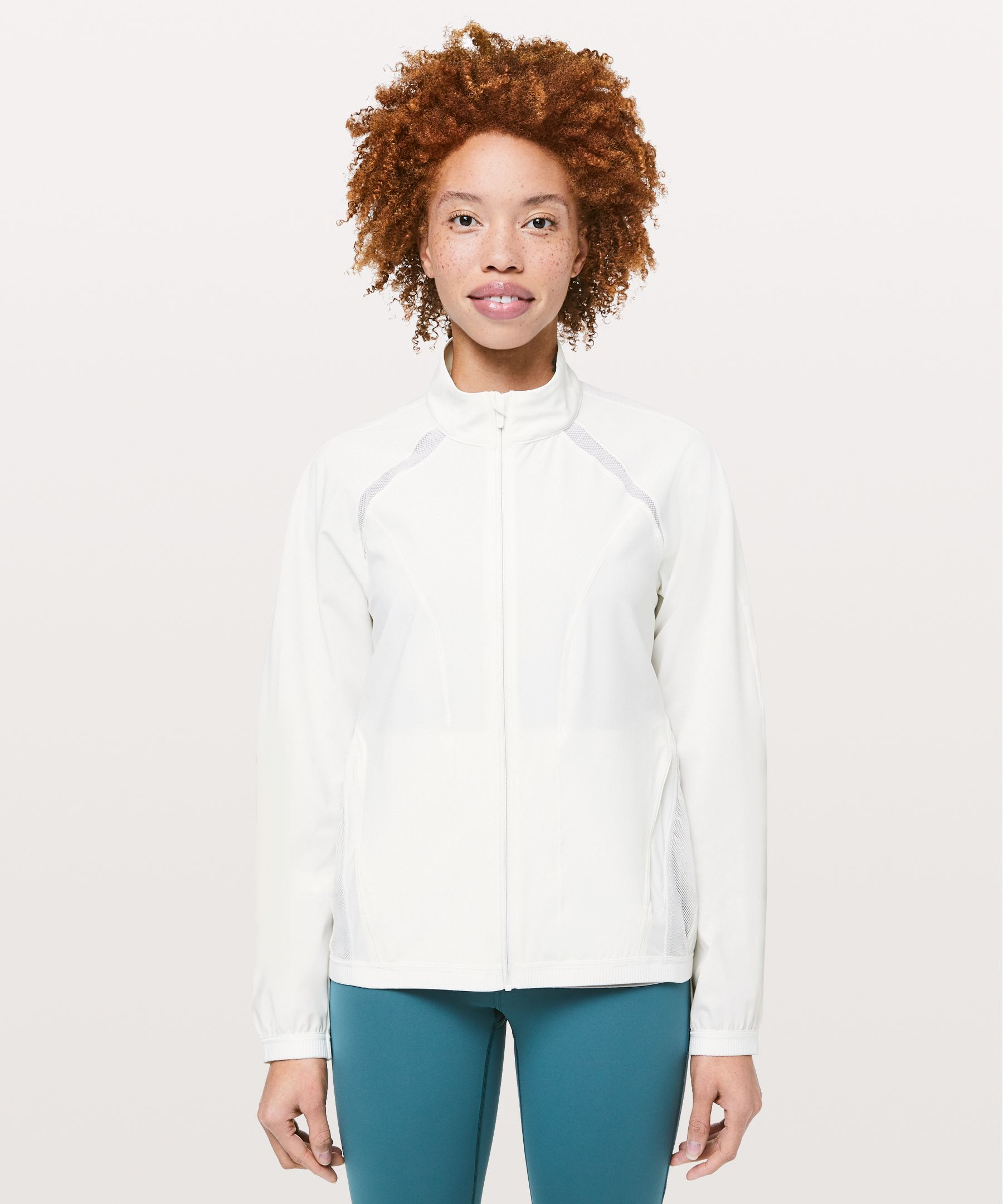 Toss on this lightweight,  strategically-ventilated  jacket when you need breezy  coverage.