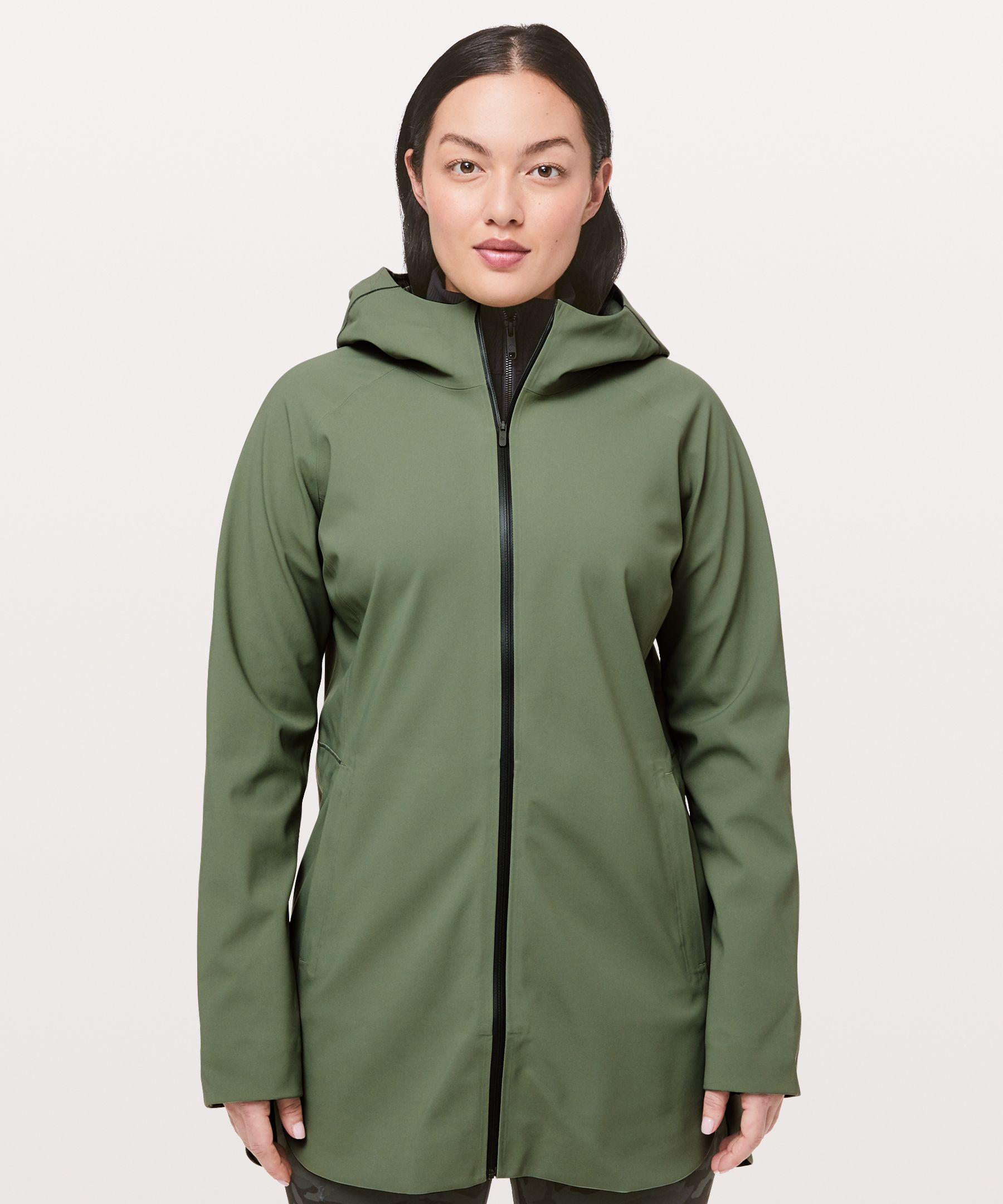 Lululemon Glyde Along Softshell In Green Twill