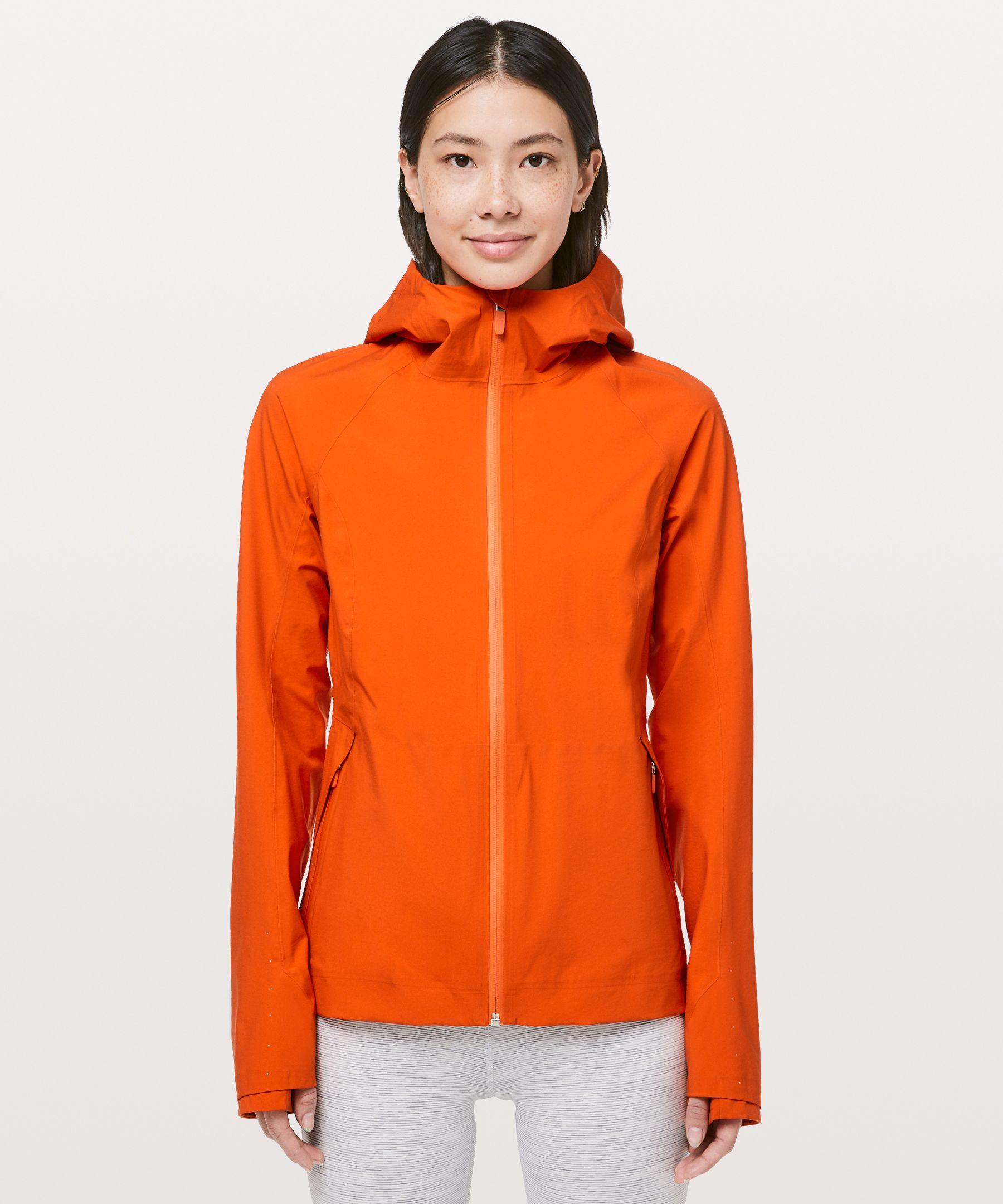 Lululemon The Rain Is Calling Jacket Ii In Atomic Orange