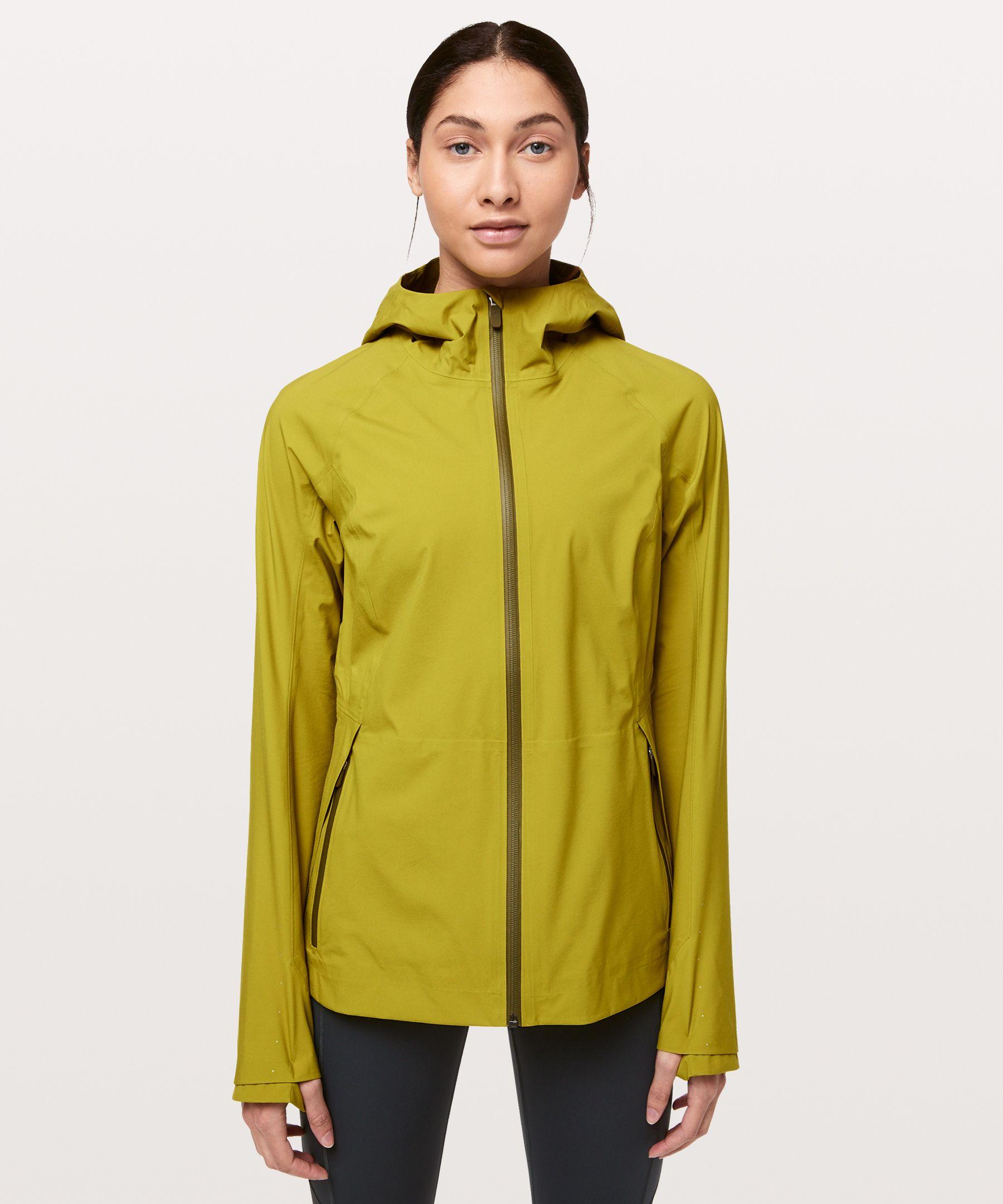 Lululemon The Rain Is Calling Jacket Ii In Golden Lime