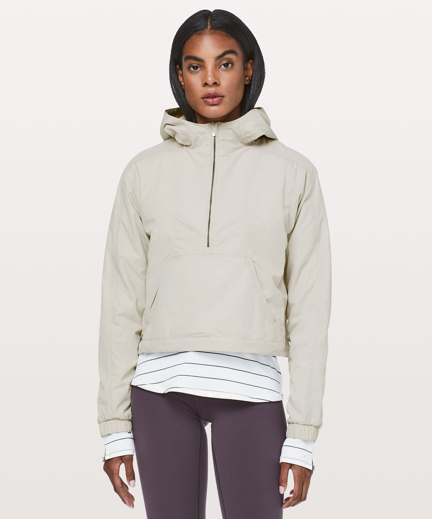 Lululemon Hit Reset 1/2 Zip Jacket In Chrome