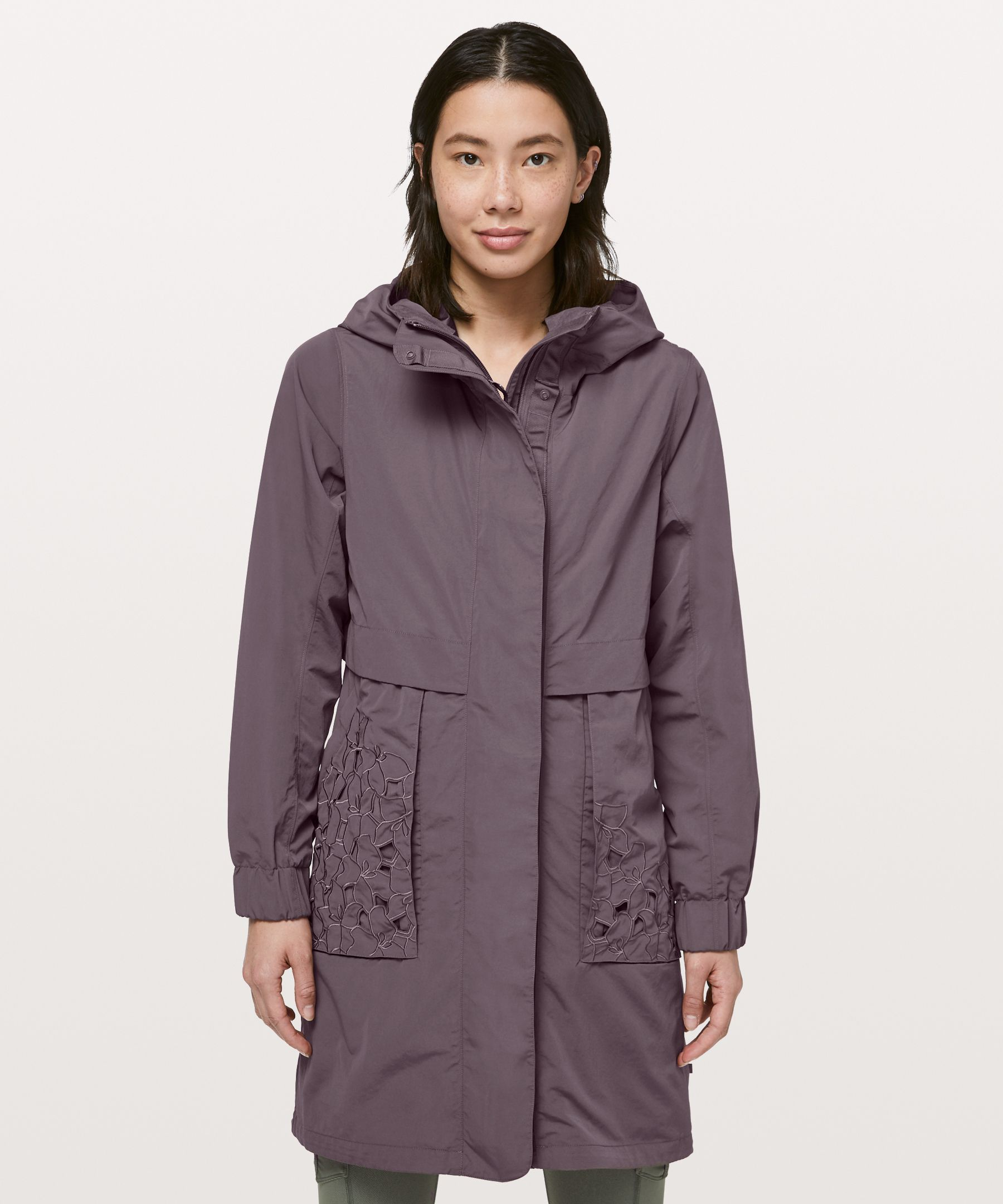 Lululemon Graced With Lace Long Jacket In Antique Bark
