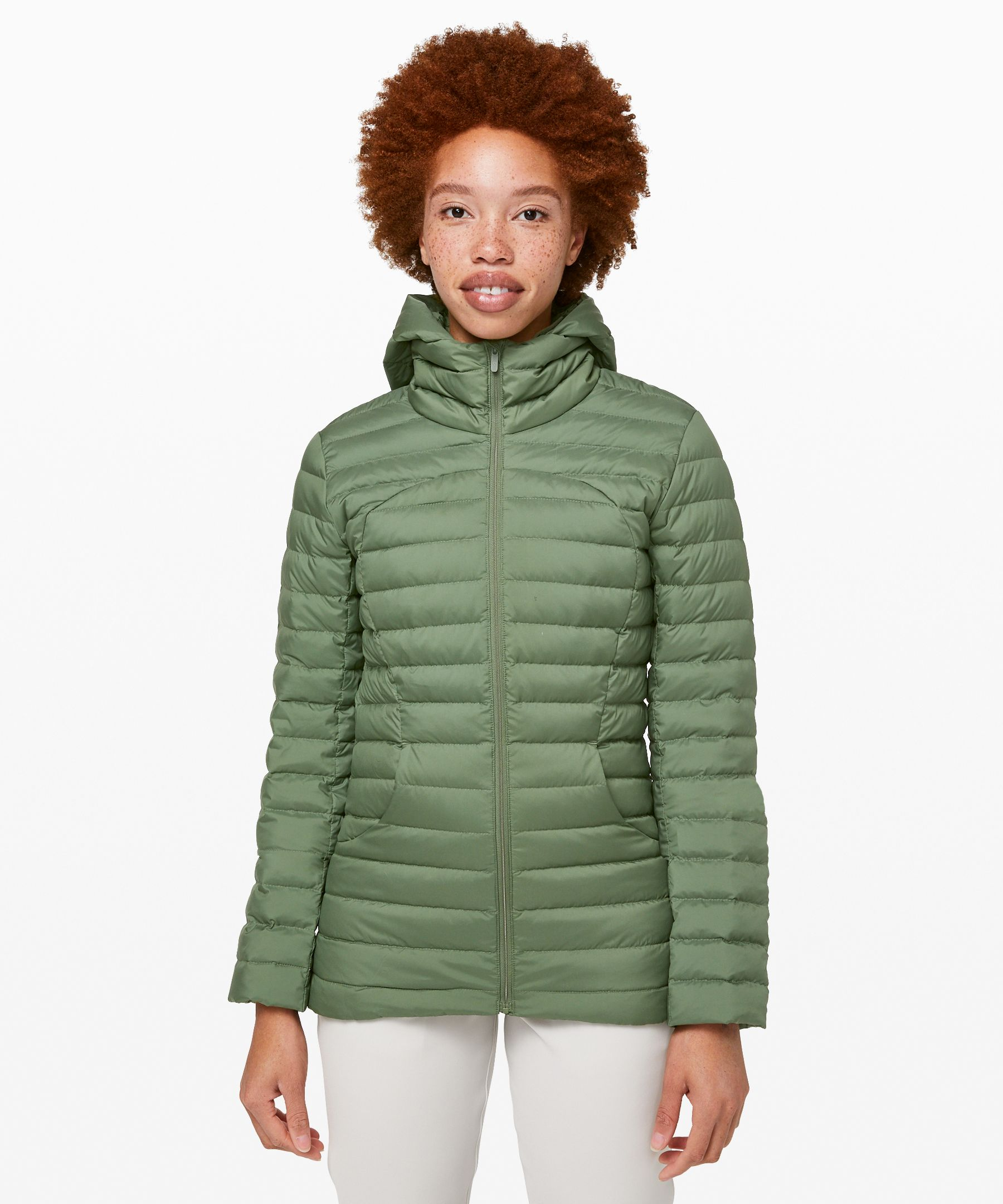 Lululemon Pack It Down Jacket In Green Twill