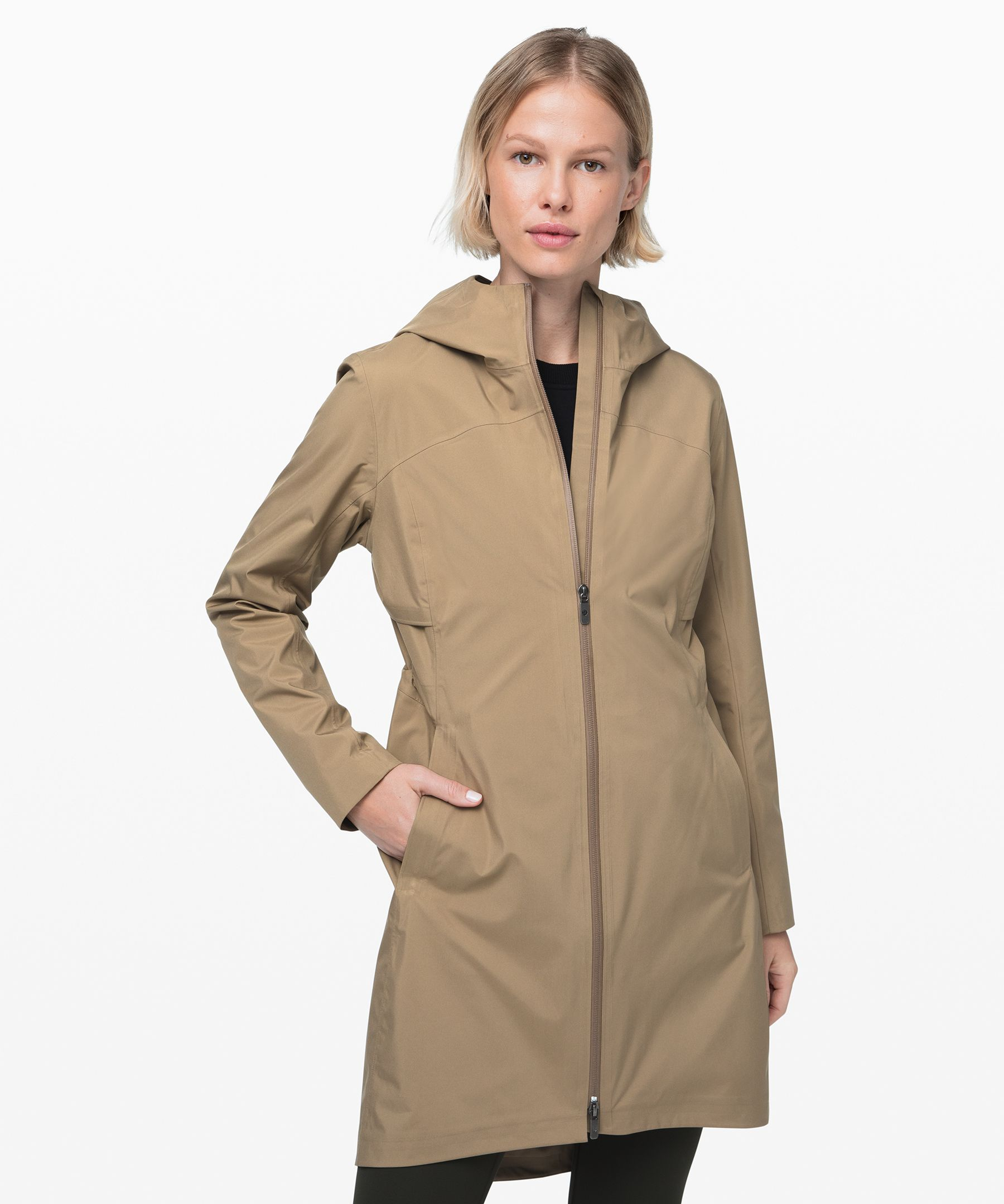 Shake off wet weather with this sleek rain jacket. The waterproof exterior and soft, sweat-wicking liner will keep you happy and dry.