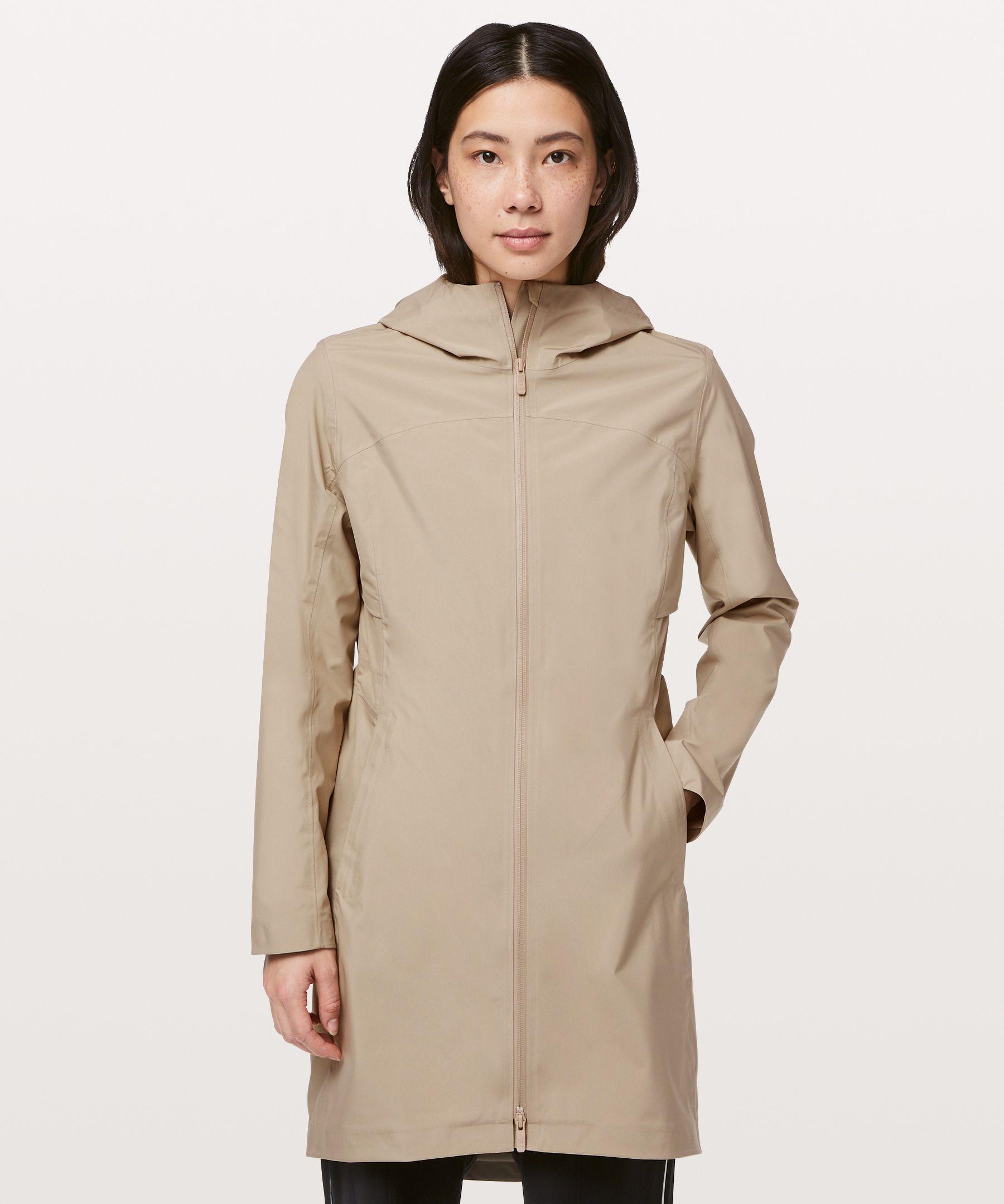 Lululemon Rain Rebel Jacket In Sandlot