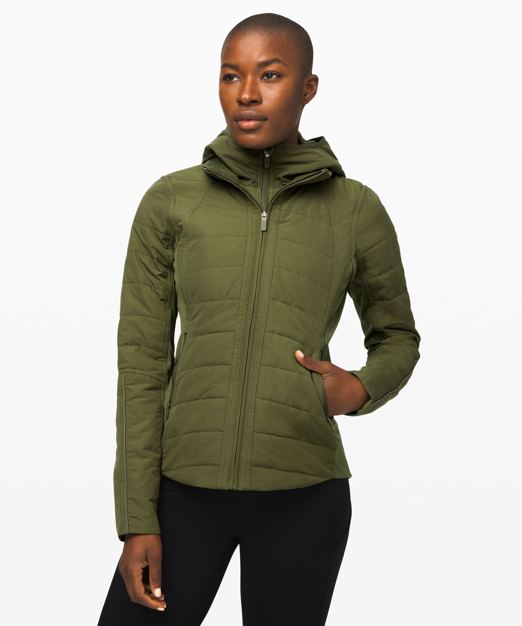 Lululemon Another Mile Jacket In Landscape Green