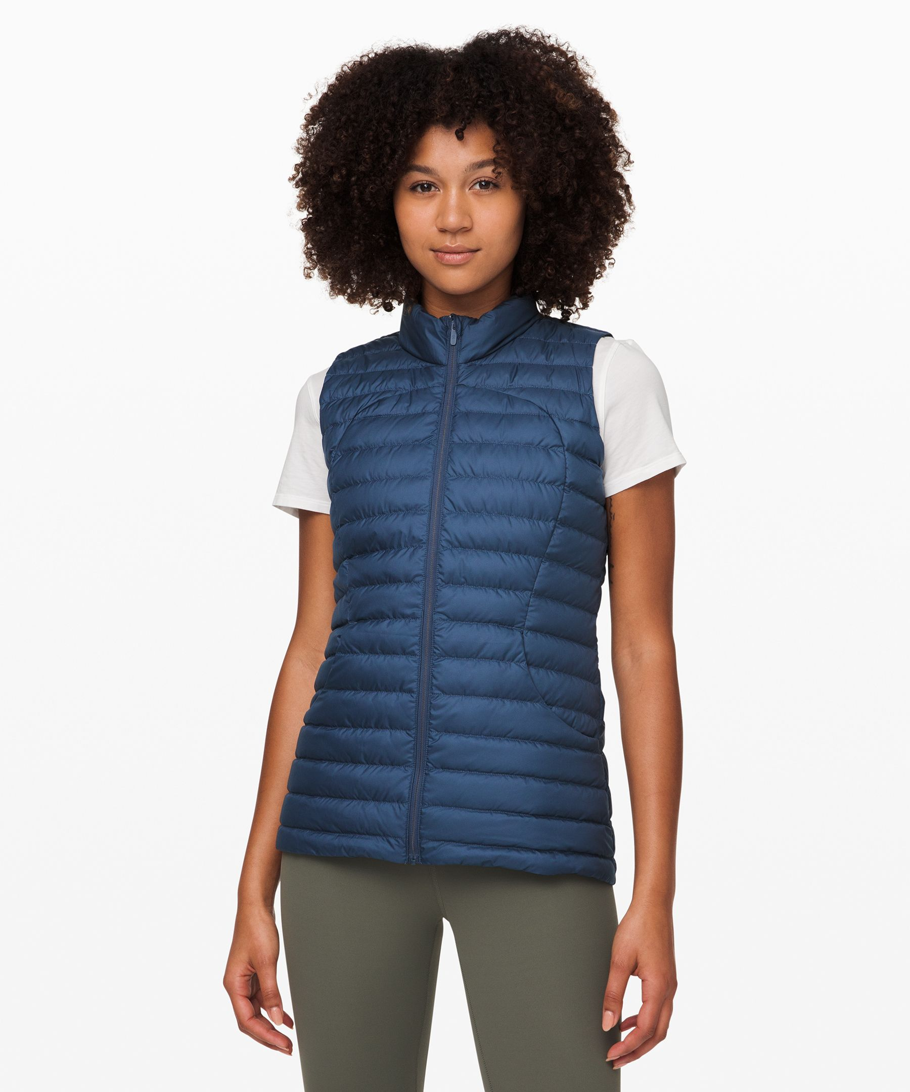 Lululemon Pack It Down Vest In Code Blue
