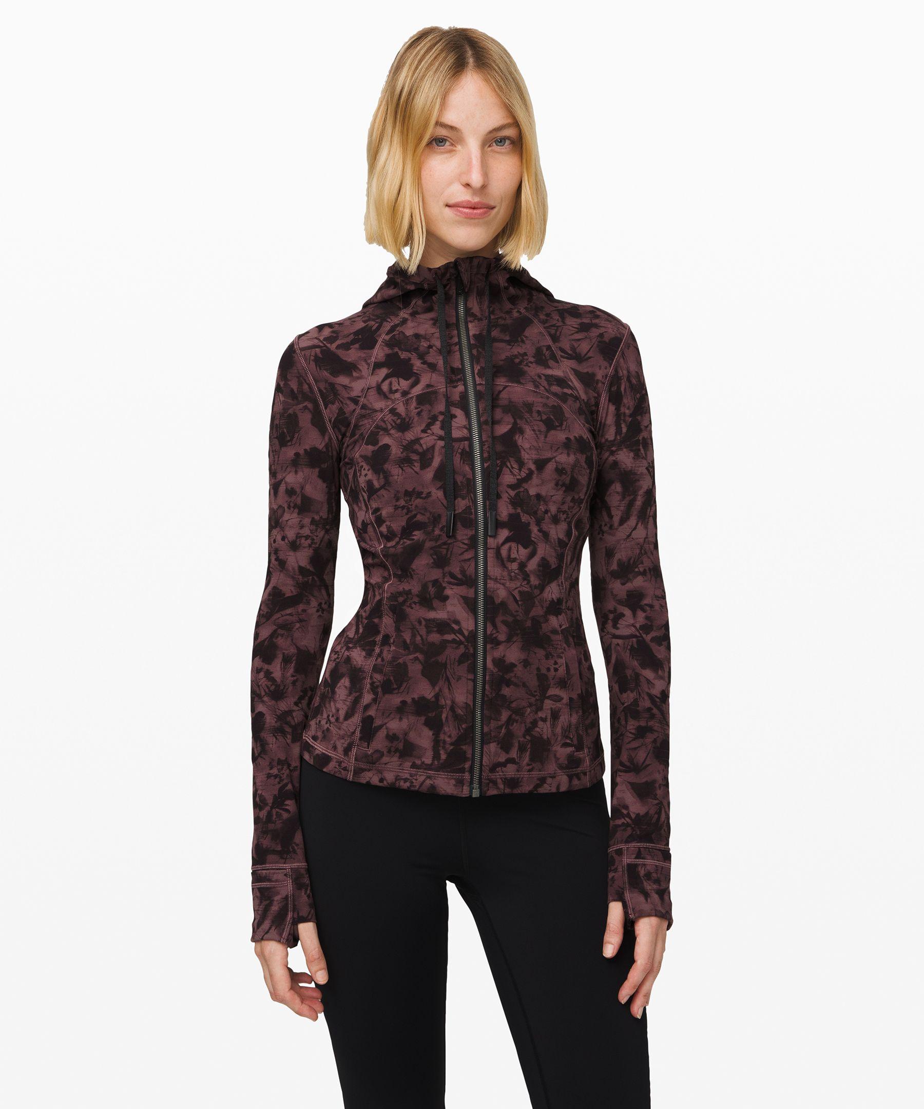 Lululemon Hooded Define Jacket *nulu In Mini Dusk Floral Antique Bark Black
