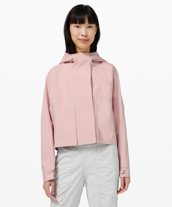 Lululemon Women's Rain Chaser Jacket, Porcelain Pink Size 6