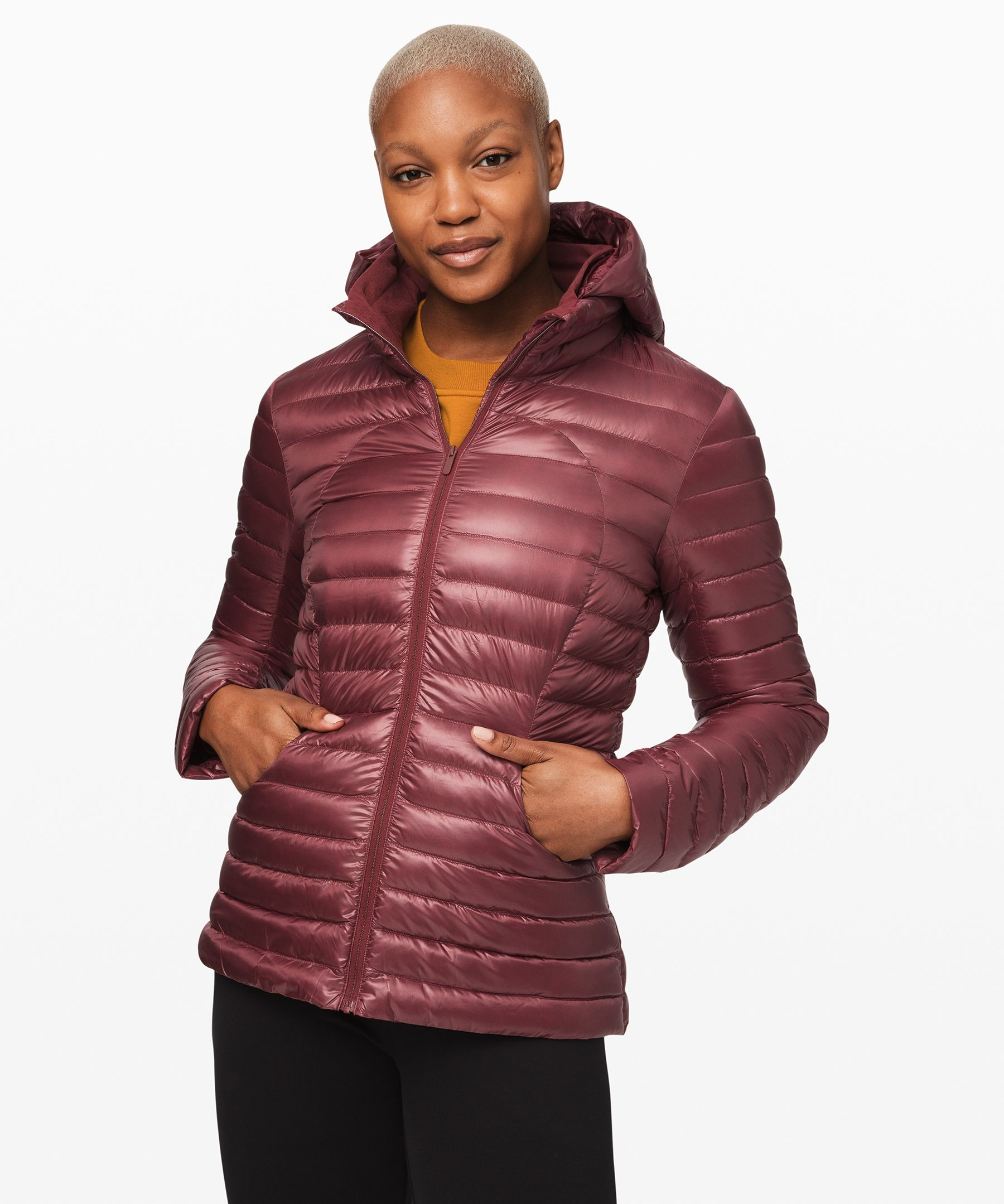 Lululemon Pack It Down Jacket *shine In Red