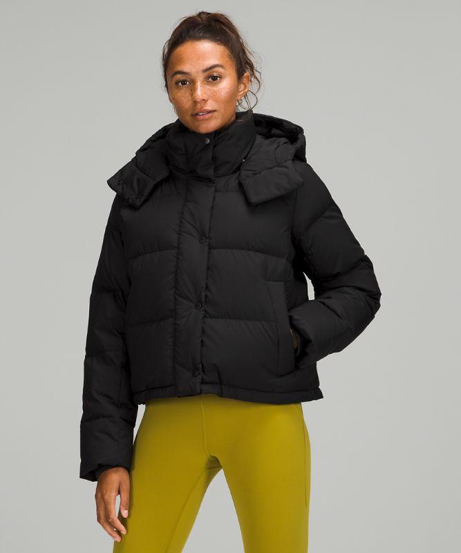 원더 퍼프 크롭 재킷, BLACK