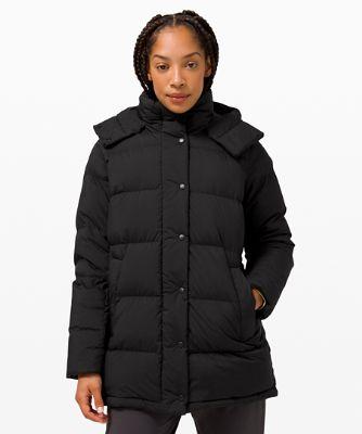 원더 퍼프 재킷 미드 렝스, BLACK