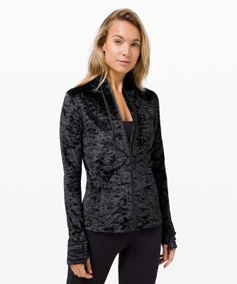 Hooded Define Jacket *Crushed Velvet