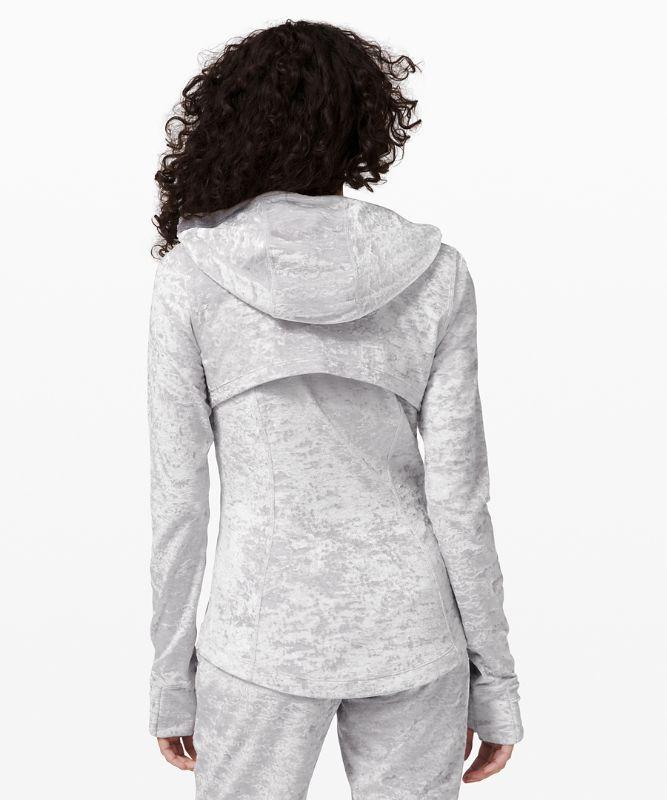 Hooded Define Jacket Crushed Velvet