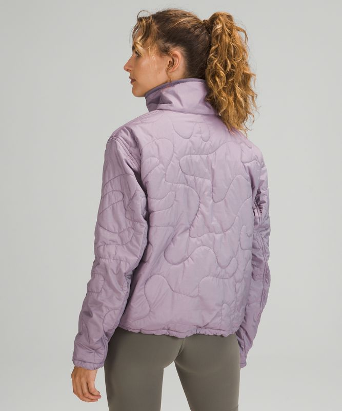 Insulated Quilted Pullover Jacket