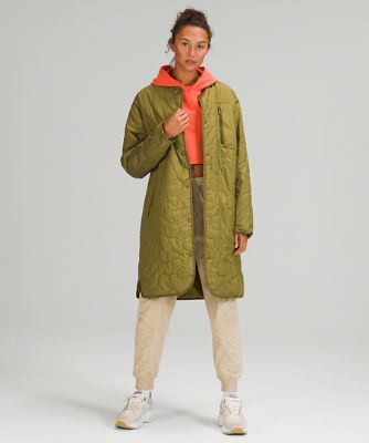 Insulated Quilted Long Bomber