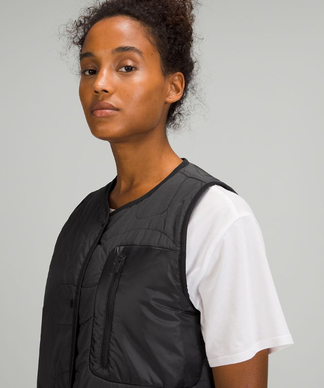 Insulated Quilted Long Vest