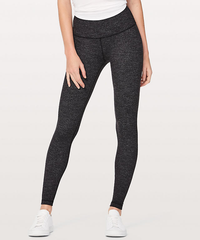 8387234fa Variegated knit Brushed Luon Black Heathered Black Wunder Under High-Rise  Tight 28