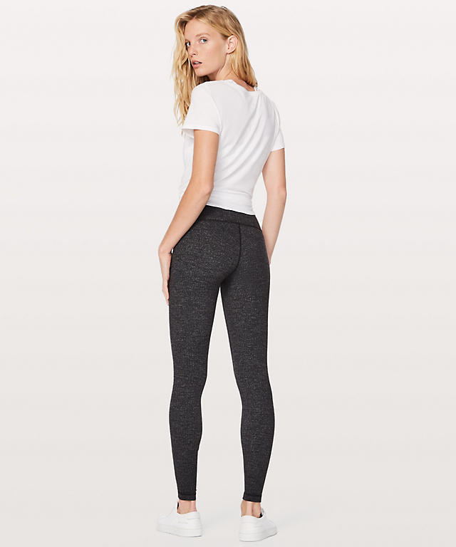 24b166570b4ac ... Variegated knit Brushed Luon Black Heathered Black Wunder Under  High-Rise Tight 28