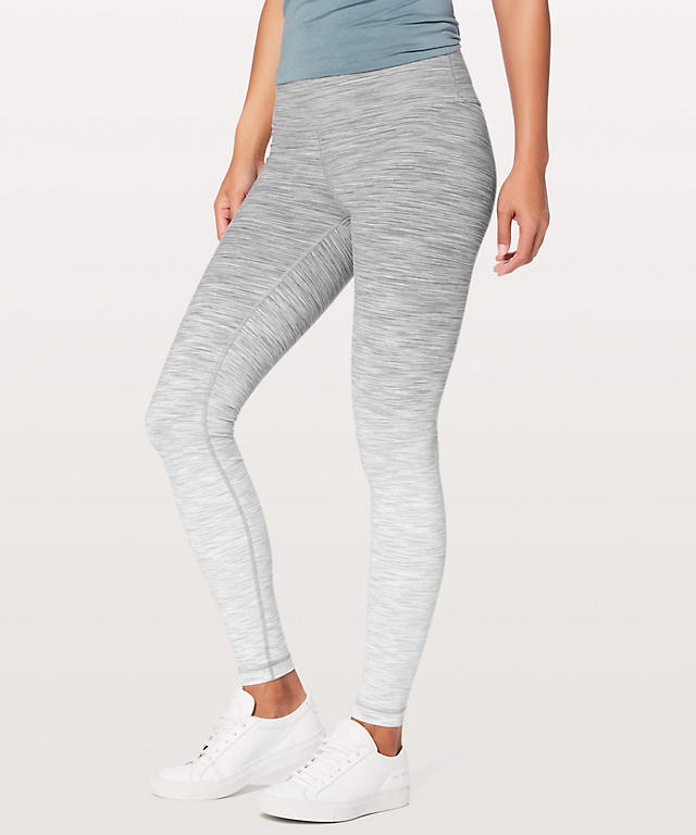 038269216 Ombre Melange Space Dye WUHR White Multi Wunder Under High-Rise Tight 28