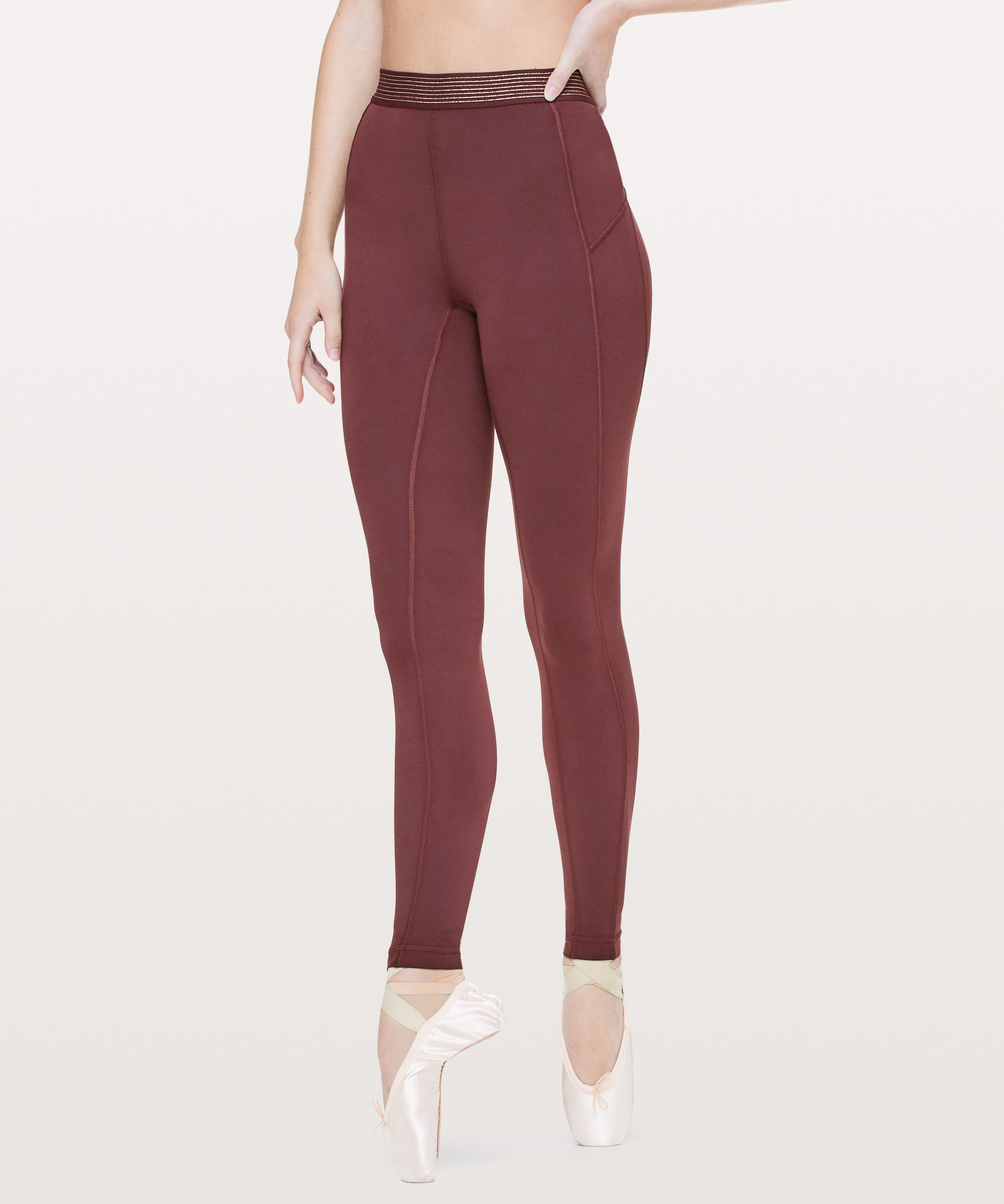 "Principal Dancer Golden Lining Tight 28"" by Lululemon"