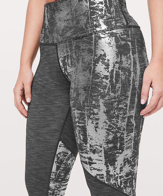 8fa2f24569 ... Heathered Black/Crinkle Heather Brindle High Shine Foil Wunder Under  High-Rise Tight 28 ...