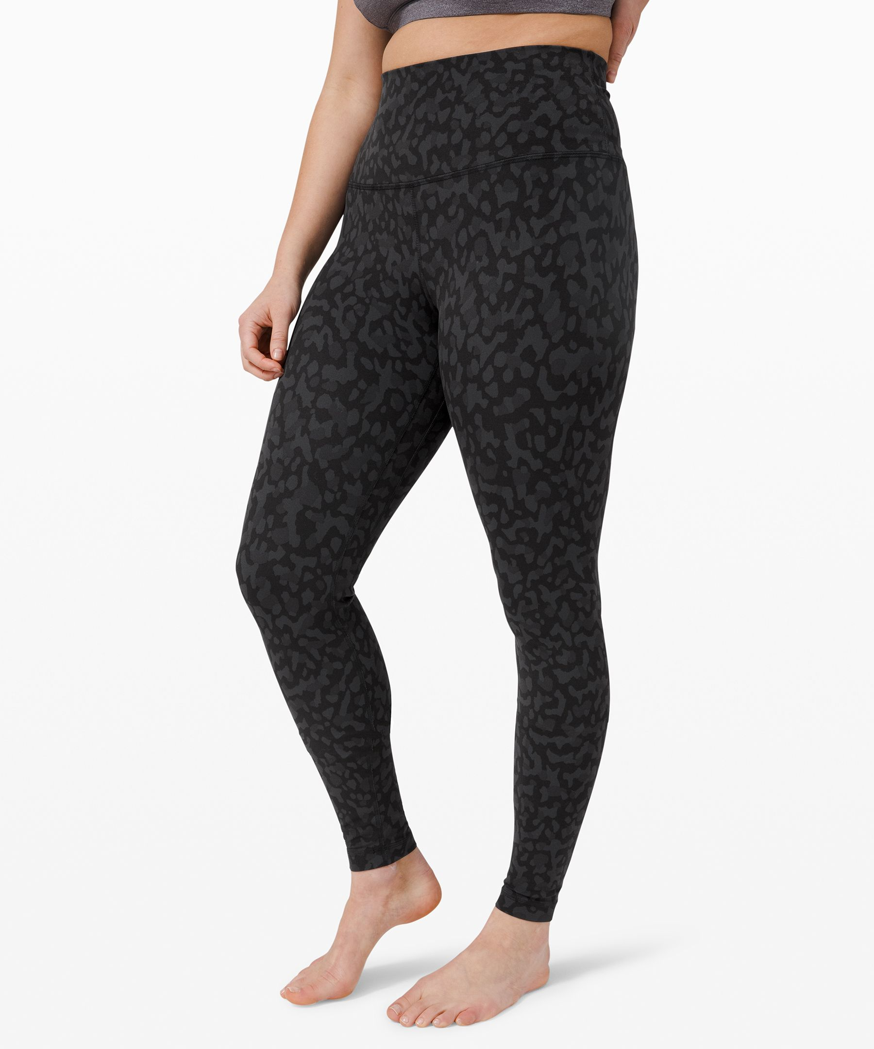 "Lululemon Align Pant 28"" In Formation Camo Deep Coal Multi"