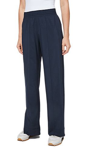 842d58c0d3 1/3 view of women's lower body wearing wide leg pants.