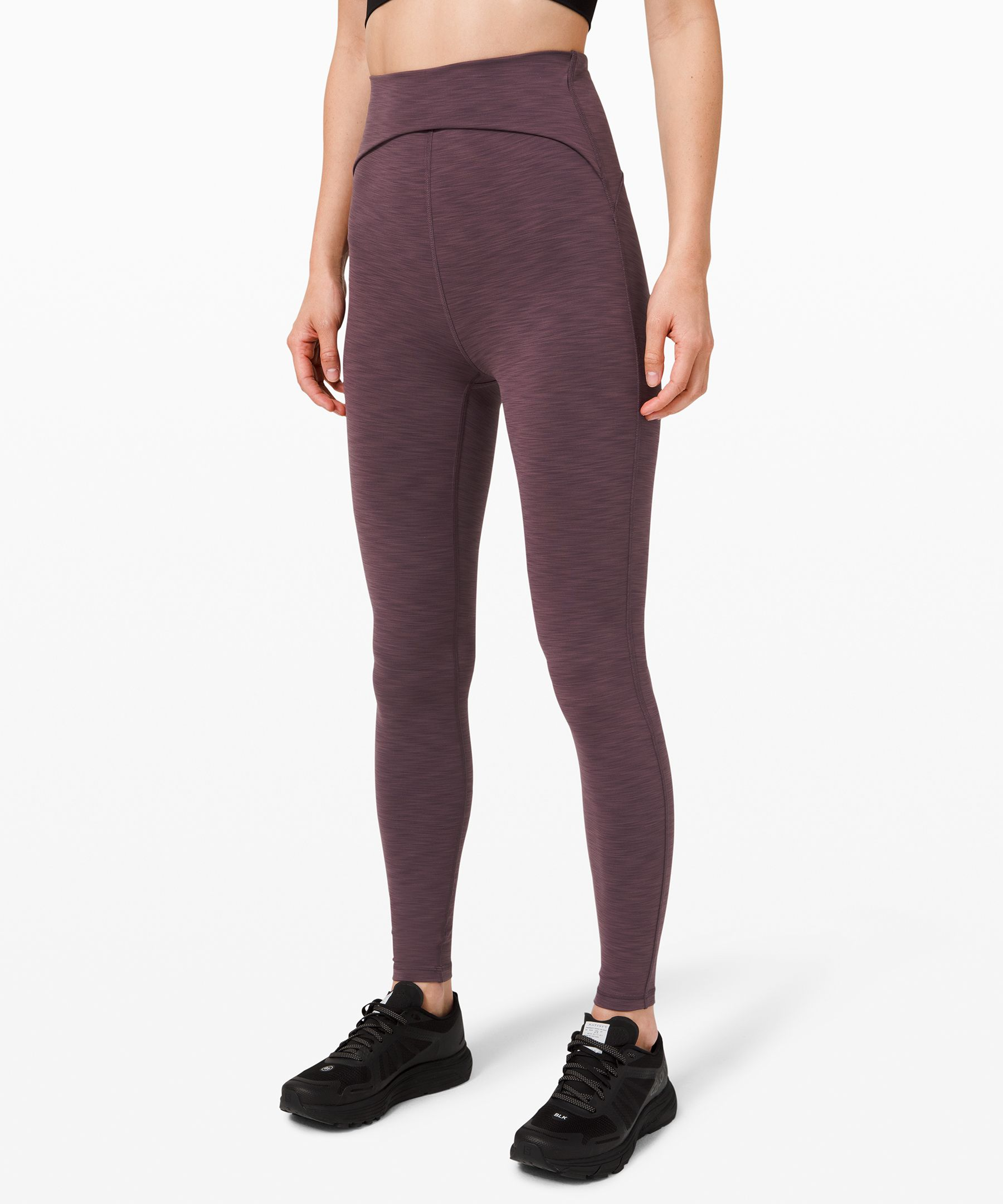 Summon your inner strength in  these tights, which offer cool  coverage for hot workouts in  stuffy studios. We made them  with minimal design lines for  a sleek look.